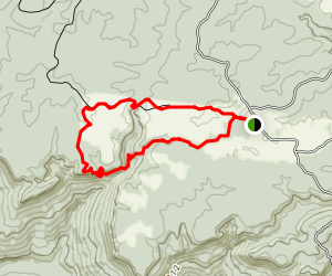 Virgin Falls Trail to Upland Trail Loop Map