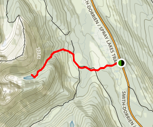 Tryst Lake Ridge Route Map