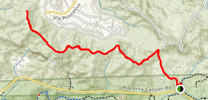 Placerita Ridge Trail Map