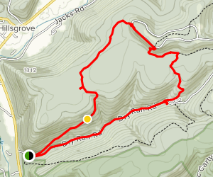 High Knob Trail from Dry Run Road Map