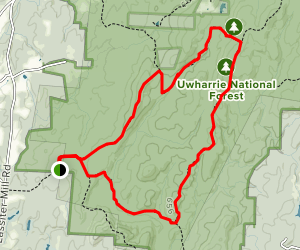 Robbins Branch, Birkhead Mountain and Hannah's Creek Trail Loop Map