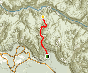 South Kaibab Trail to Tip Off Map