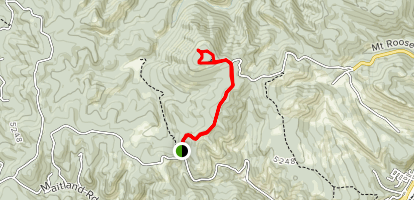 Mount Roosevelt Trail Winter Route Map