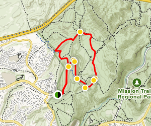 SD Aqueduct, Rim, E-Ticket, Suycott Valley and South Trail Loop Map