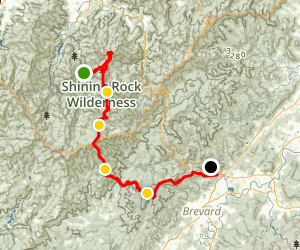 Art Loeb Trail - North to South Map