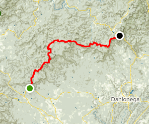 Amicalola Falls to Woody Gap via Appalachian Trail Map