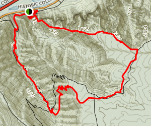 Rock of Ages and Horsetail Creek Loop Trail (CLOSED) Map
