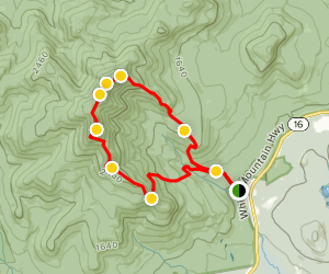 Mount Chocorua Loop Trail Map