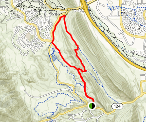Coyote Song, Columbine, Cathy Johnson, and Valley View Loop Map