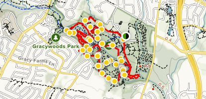 Walnut Creek Park Loop Map