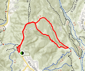 West Ridge to Car Wreck Trail and Mathis Canyon Loop Map