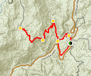 Chiquito Trail to Chiquito Falls Map