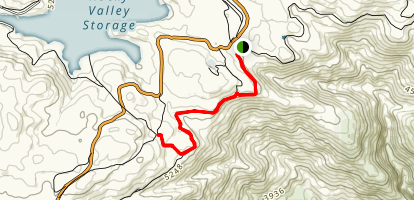 Langford Gap to Wallaces Hut Map