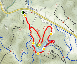 Horseshoe Lake Trail Loop Map