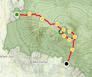 Mount Kilimanjaro - Lemosho Route (8 Day) Map