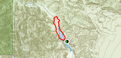 Red Dome and Rainbow Canyon Loop Map