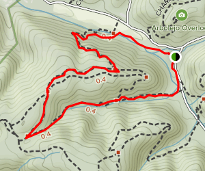 Steep Hollow and Los Trancos Trail Loop Map