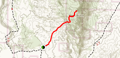 Borrego Mountain West Butte Trail Map