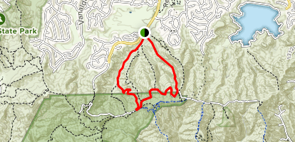 Lower Hectic and Cabellero Canyon Trail Map