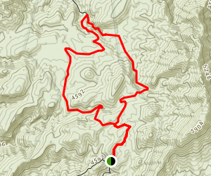 Echo Pass and Inyo Mine Loop Map