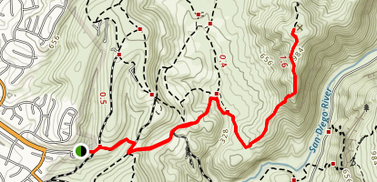 South Fortuna Mountain Out and Back Map