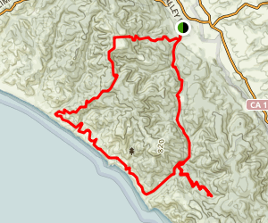 Mount Wittenburg, Woodward Valley, Coast Trail, and Glen Camp, Bear Valley Loop Trail Map