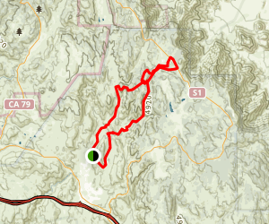 Noble Canyon MTB Loop Map