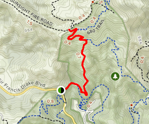 Old Railroad Grade and Sunrise Fire Road Map