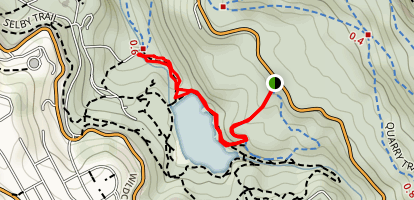 Mineral Springs to Lake Anza and Wildcat Gorge Trail  Map