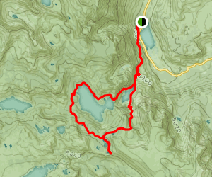 Silver Lake and Clark Lakes to Agnew Pass in the Eastern Sierras Map