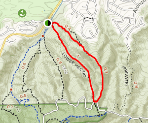 Lower Hectic Trail Loop Map