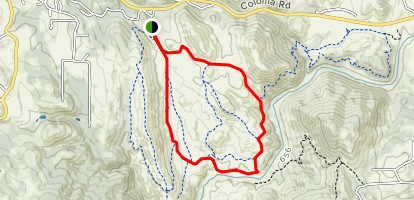 Down and Up Trail Loop Map