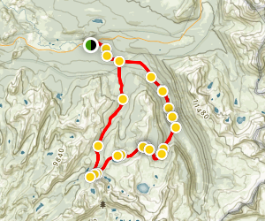 Lyell Canyon-Vogelsang Loop Trail Map