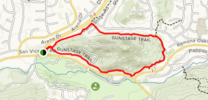 Gunstage Trail Map