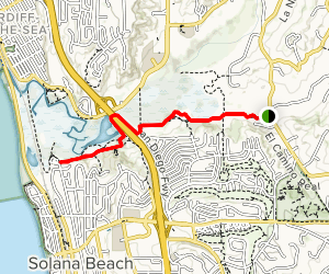 Lagoon Trail to Annies Canyon Map