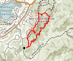 Weir Canyon Short Loop Map