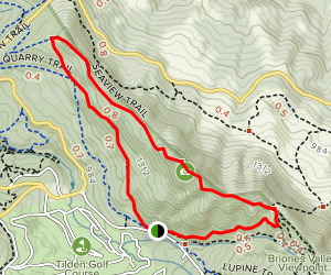 Upper and Lower Big Springs and Seaview Trails Map