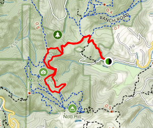 Hayfield Trail to Toyon and Bay View Loop Map