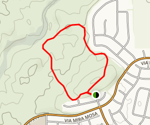 La Alba Trailhead Short Loop  Map