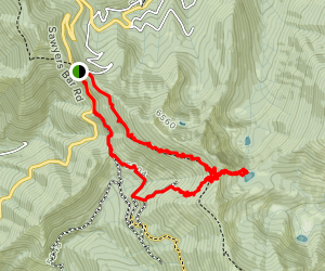 Upper Ruffey Lake Map