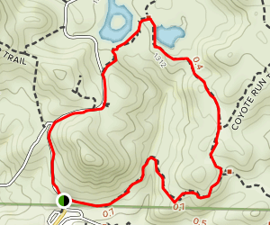 Middle Pond and East Ridge Loop Map