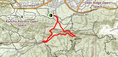 Satwiwa, Old Boney, Upper Sycamore, and Big Sycamore Canyon Loop Map