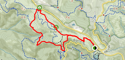 Charquin Trail to Ridge Trail Loop Map