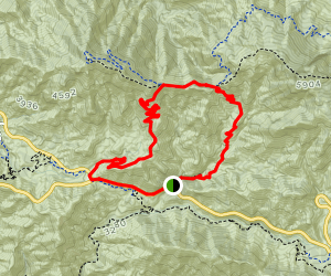 Colby Canyon, Strawberry Spur and Josephine Peak Loop Map