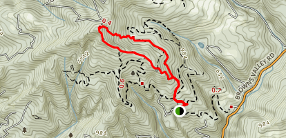Rattlensake Trail to Eagle In Tree and Ruth Perry Trail Map