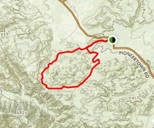 Saw Tooth Loop Trail Map