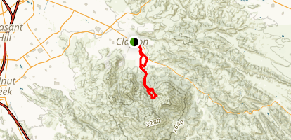 Falls Trail and Middle Trail Map