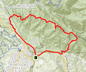 The Luge: Santiago Truck Trail Loop Map