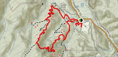 San Andreas Trail to Peterson Memorial Trail Map
