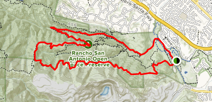 PG&E Trail, Upper High Meadow, and Upper Rogue Valley Loop Map